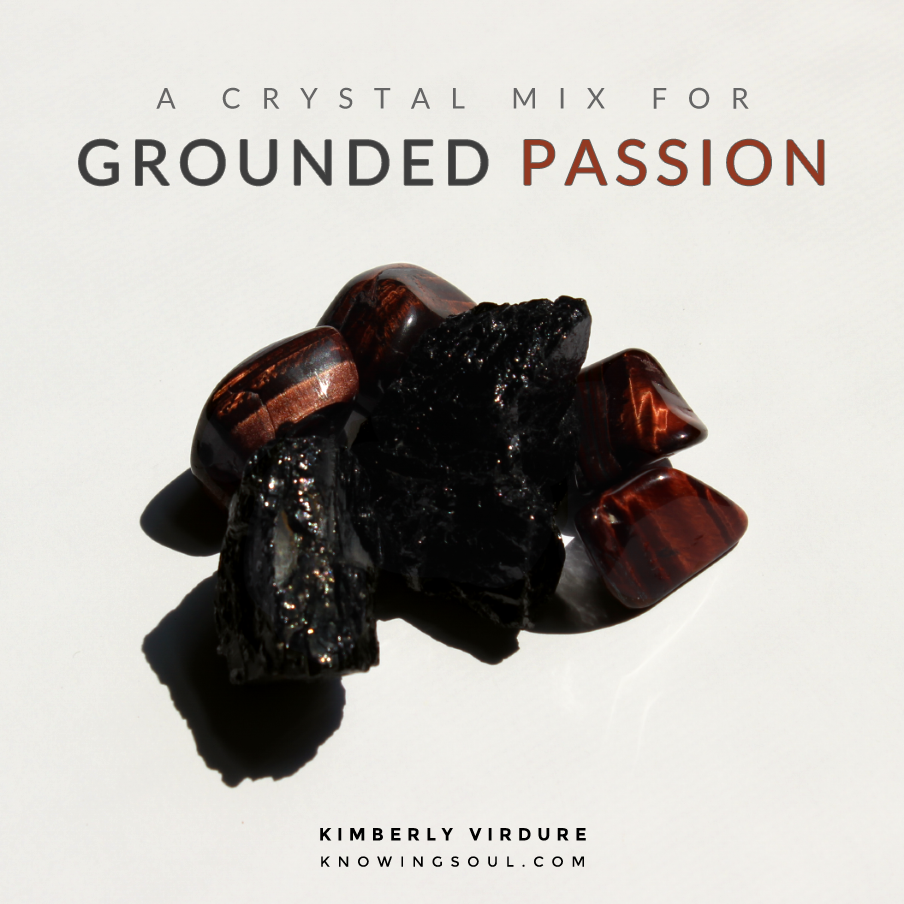 Red Tiger's Eye + Black Tourmaline = Grounded Passion